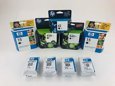 Mixed Lot of Genuine HP Ink Cartridges NIP Sealed HP 920XL 940XL and More!