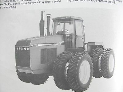John Deere 8560 8760 8960 Tractor Operators Manual Very Good