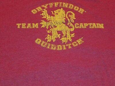Gryffindor Wizarding World Of Harry Potter Quidditch Team Captain Mens XL tshirt](Gryffindor Shirt)