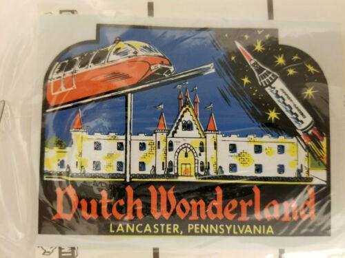 Vintage Impko Dutch Wonderland Lancaster, Pennsylvania Souvenir Travel Decal