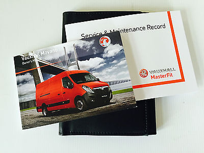 Vauxhall Movano Van Service Book & Handbook Pack  2011 To 2015  Brand New
