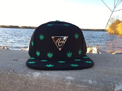 Hater Black Cannabis Marijuana Weed Snapback, New With Tags!