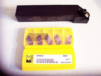 New - 1 Top Notch Grooving Tool Left Hand With New 10 Pcs- Ng 3137lk Inserts