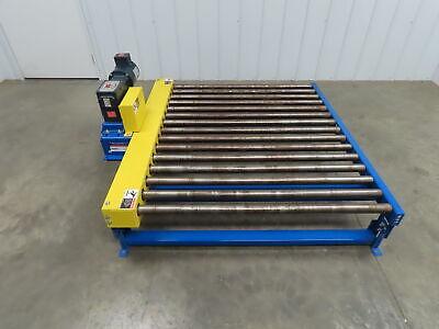 Lewco Powered Live Roller Case Pallet Skid Conveyor 60x 48 460v 3ph 31 Fpm