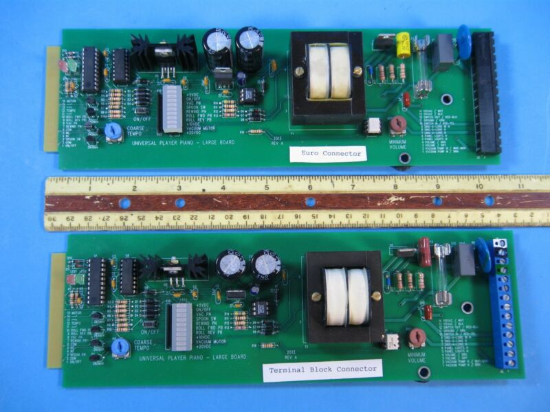 "Universal Player Piano,   Replacement Electronic board, Size 3 1/2"" X 10 1/2"""