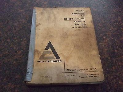 Allis Chalmers Hd-16d Hd-16dc Crawler Tractor Dozer Parts Book Manual
