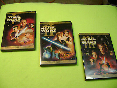 Star Wars Prequel Trilogy Dvds: Episodes 1 2 3 (6-Disc set Widescreen CLEAN DISC