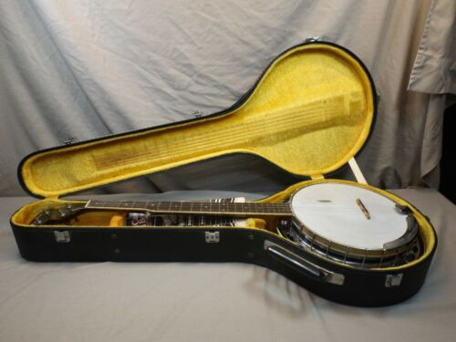 VINTAGE EPIPHONE 5 STRING BANJO JAPAN WITH CASE