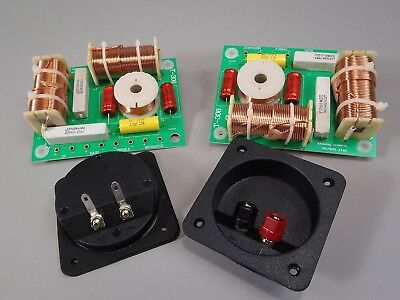 3 Way Crossover Pair High Power 1000W RMS 8 Ohm 12 dB & Square Terminal Cups