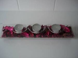 GLASS TEA-LIGHT CANDLE HOLDER