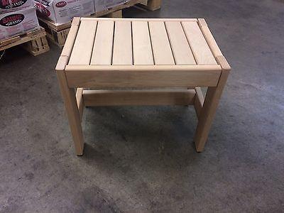 Sauna bench Alder Gr. I: 50x35x40 cm