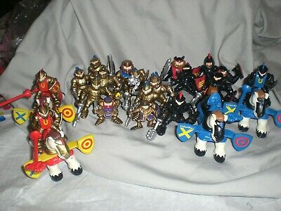 Fisher Price Great Adventures Toy 10 Knight King Figures Gold Black 1994 1995