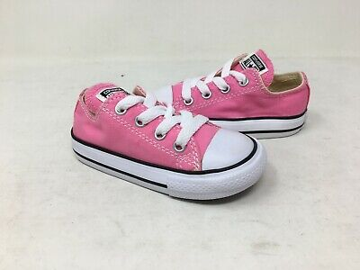 NEW! Converse Toddler Girl's Chuck Taylor All Star Pink/White #7J238 J9C - White Converse Toddler