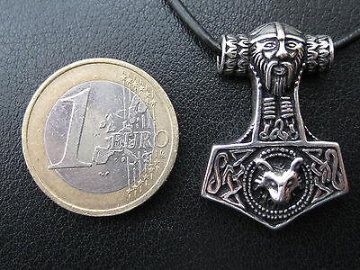 Thor s Hammer 925'er Silber + Geschenkbox + Band etNox Anhänger / KA 096