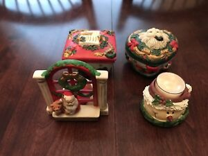 Christmas Ceramic Candles & Boxes.