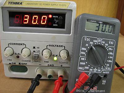 Tenma 72-2075 Dc Laboratory Power Supply Bench 30v 3a With Warranty