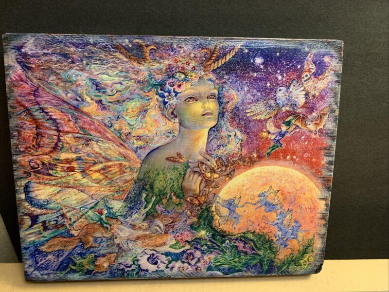 Josephine Wall Replica Painting On Wood Fairies Magic Fantasy Butterflies