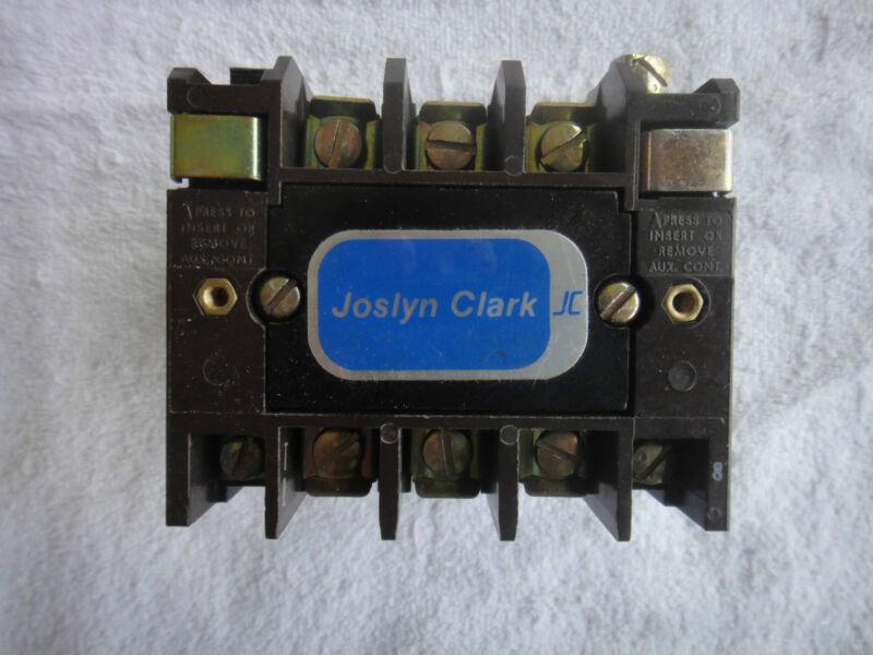Joslyn Clark Reversing Contactor 3 Pole 3 Phase NEMA size 0       T31U030