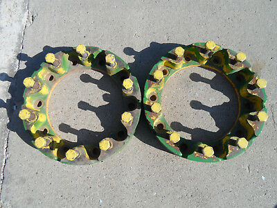 R79182 John Deere Jd Tractor Wheel Spacer - Used Set Of 2 W Bolts 4050 Others