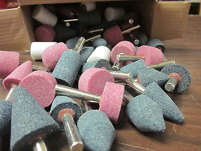 50pc Git Industrial Tool Mounted Grinding Stone Assortment Bits 14 Drill Msa50