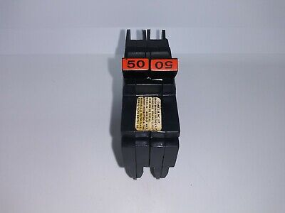Fpe Federal Pacific Nc250 2 Pole 50 Amp Circuit Breaker Red Handle