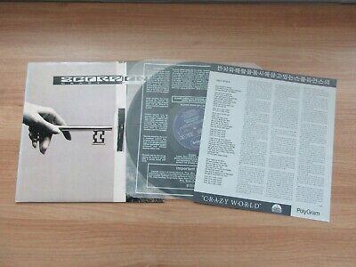 Scorpions - Crazy World 1991 Korea Orig LP Insert NM RARE