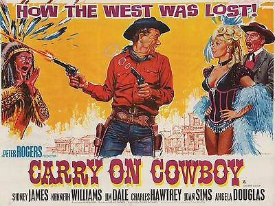 """Carry on Cowboy 16"""" x 12"""" Reproduction Movie Poster Photograph"""