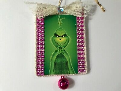 Grinch Christmas ornament, handcrafted wood, item #8A - Grinch Items
