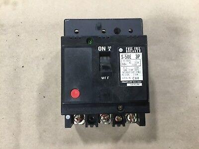 Hitachi S-50e Circuit Breaker 50a 3 Pole 220v 2.5ka 230dk