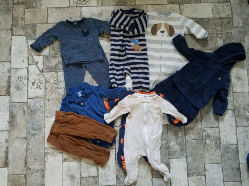 10 Pcs Baby Boys Clothes Outfits Lot Size 6-9 Months Fall Winter