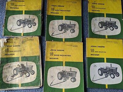 John Deere No. 10 50 3700 350 450 Sickle Bar Mower Operators Manual