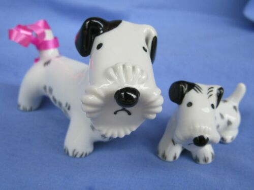 "SEALYHAM CESKY TERRIER BOSSE METZLER ORTLOFF GERMANY 4"" MOM & PUP DOGS"