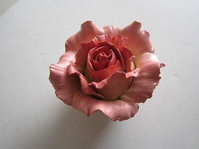 Handarbeit Porcelain Flower Figurine antique West Germany W vtg pink rose decor