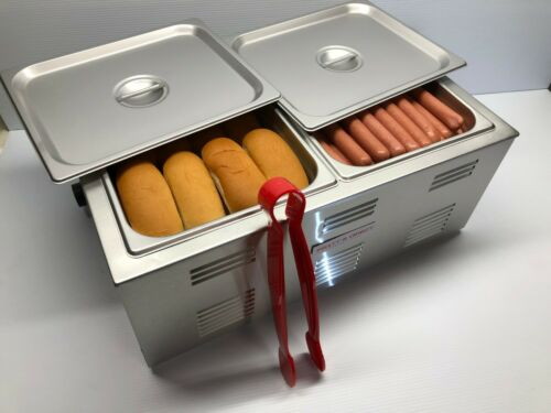 Commercial COOKER Countertop Hot Dog Steamer Bun Warmer Portable Concessions