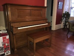 Piano-Autotone Player Piano.  Lovely cabinetry
