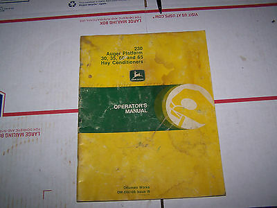 ORIGINAL JOHN DEERE MANUAL HAY CONDITIONER MANUAL