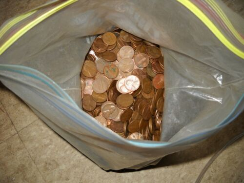 1360# copper pennies from 1909 to 1982 lot of D and S unrehearsed
