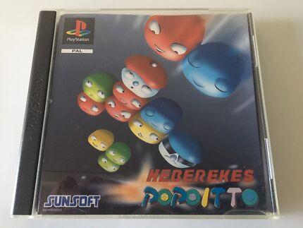 PS1 Game: HEBEREKE's  POPOITTO, Super Rare.