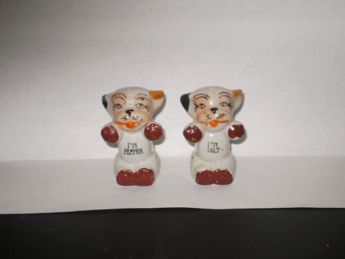 VINTAGE BONZO SALT N PEPPER SHAKERS  1940