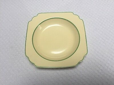 Homer Laughlin Century Green and Platinum Stripe Deep Plate or Soup Bowl