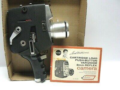 Vintage Sears Ted Williams Varizoom 8mm Movie Camera Original Directions