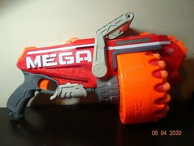 NERF N-Strike Mega Megalodon Blaster with 19 Official Nerf Mega Whistler Darts