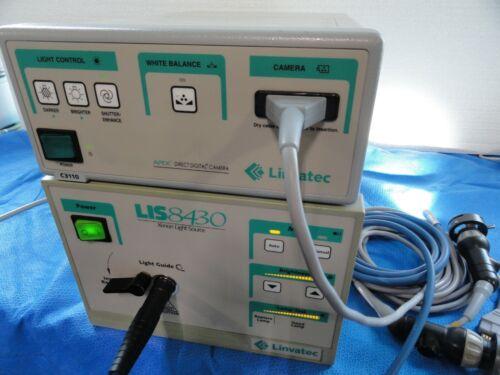 Linvatec C3110 x2 Camera Heads & LIS 8430 Xenon Tower Endoscopy Surgical