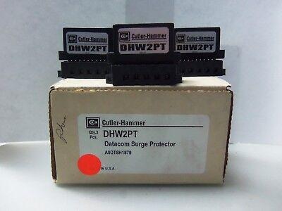 New Lot Cutler Hammer Dhw2pt Datacom Surge Protector Voltage Nib