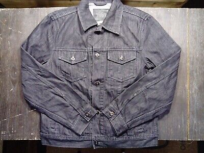 Men's Vintage Gap Black Denim Jacket Size Medium