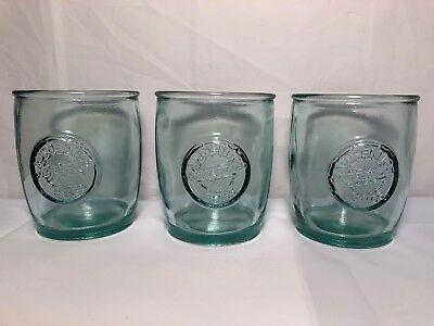 12 Oz Juice Glasses - 3 San Miguel 100% Recycled 12 Oz Glass Water Juice Glasses Starbucks EUC