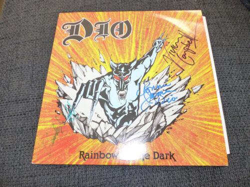 """DIO signed Autogramm auf """"RAINBOW IN THE DARK"""" Vinyl Platte LP InPerson LOOK"""