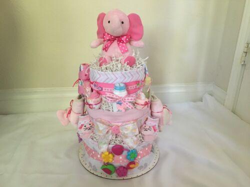Elephant 3 tier Diaper Cake