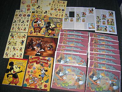 Vintage Disney Mickey Mouse Stationery Lot - Notecard Set, Notepads, Stickers - Mickey Mouse Stationery