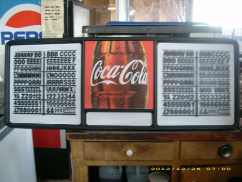 New! 4ft Coca-Cola Menu Board w/2 sets of coke letters & numbers & symbols!